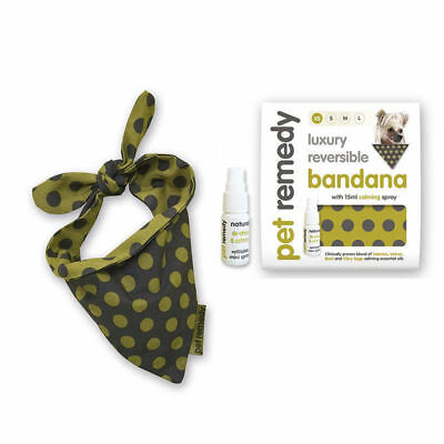 Pet Remedy Luxury Bandana with 15ml Pet Remedy Calming Spray 4 sizes