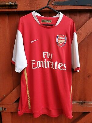 6aae7a4f888 ARSENAL 2008/2010 HOME Football Shirt Nike Fly Emirates - Size large ...
