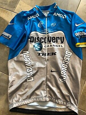 2167b16b4 Discovery Channel Aero Jersey RARE X Large XL Team Rider ISSUED Nike Trek
