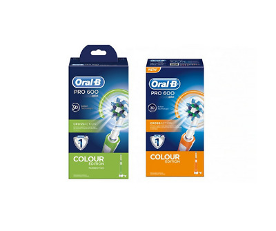 ORAL B PRO 600 Crossaction Colour Edition Verde Spazzolino Elettrico ... 9c5ed88b4a0ef