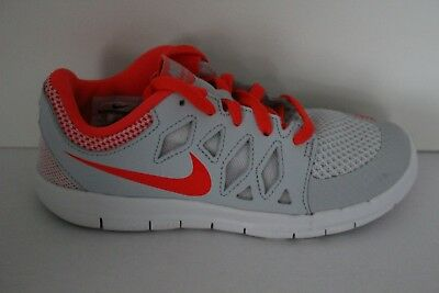 a190334c6e8c Nike Free 5 Pre School Boys Girls Running Shoes Grey Red Youth Sneakers  Trainer