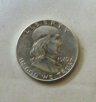 Scarcer Date Near Uncirculated 1949-P 90% Silver Franklin Half Dollar, Free Ship