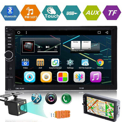 """7"""" 2Din 1080P Touch Screen Car Stereo MP5 Player Bluetooth Backup Monitor+Camera"""