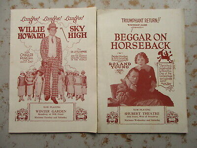 TWO 1924 New York City Theatre Promotional Booklets, Movie-Like