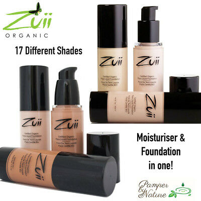ZUII Certified Organic Flora Liquid Foundation 30ml - 17 Different Shades