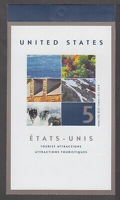 CANADA BOOKLET BK259a 5 x 65c TOURIST ATTRACTIONS, GLUED FLAP