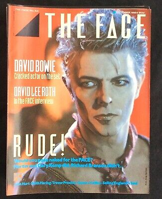 The Face Magazine No. 54 David Bowie Cover David Lee Roth Interview John Hurt