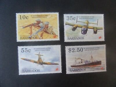 Barbados 1995 50th Ann Second World War Aircraft SG1048/51 UM MNH unmounted mint