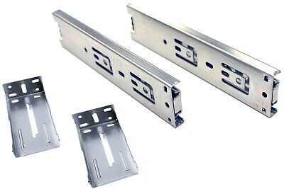 """10 Pairs Full Extension 100-lb Ball Bearing Drawer Slides 8"""" with Rear Brackets"""