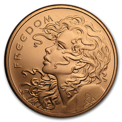 2019 1 oz Copper Shield Round - Freedom Girl - SKU#185301