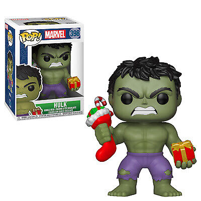 Funko Pop Marvel: Holiday - Hulk with Stocking Collectible Figure, Multicolor