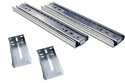"10 Pairs Full Extension 100-lb Ball Bearing Drawer Slides 10"" with Rear Bracket"