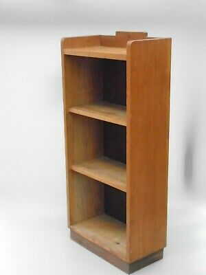 30s ART DECO FREE STANDING BOOK CASE OAK AND HARBOARD