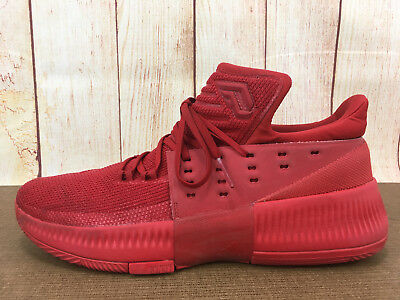new product 7223c b4cb9 ADIDAS DAME 3 DAMIAN LILLARD BLAZERS RED ROOTS BASKETBALL Sz 11 BB8337 ...