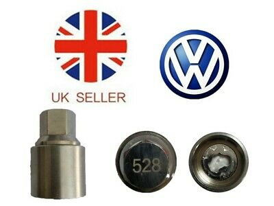 VW New Locking Wheel Nut Key With Letter H528