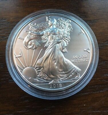 2018 Silver American Eagle. 1oz Silver. BU Condition. NEW ITEM!!