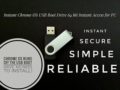 CHROME OS USB Boot Drive 32/64 Bit Install Repair Live Boot