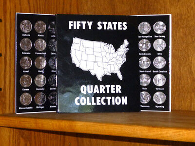 50 Statehood Quarters Denver Mint with Album Folder Complete Set 1999-2008