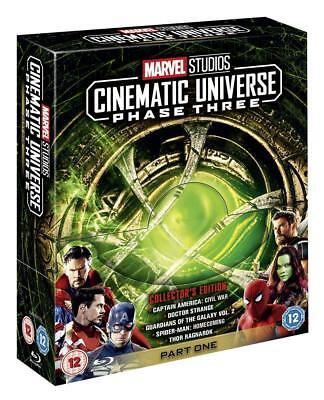 Marvel Cinematic Universe Phase Three 3 Blu-ray Collector's Edition Movie Set.