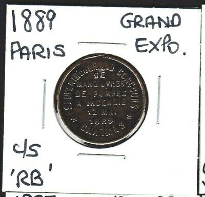 1889 Paris Grand Exposition/Concours Medal Counter-Stamped RB