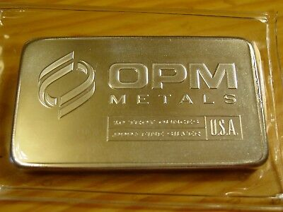 10 Troy Oz Opm Metals Bar, 10 Troy Ounces Of .999 Fine Silver Total