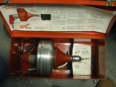 Milwaukee Heavy Duty Electric Drain Cleaner 0566-1 0576-1 in Case