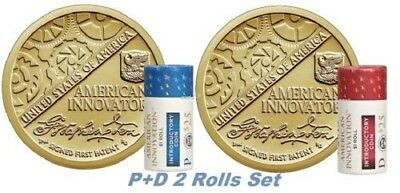 2-ROLL-set 2018 P-D American Innovation Dollar $1 Coin from US Mint W/Bonus