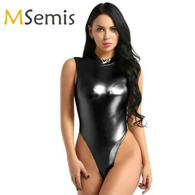 d332fb3342 Ballet Leotards for Women Leotard Bodysuit Swimsuit One-piece Shiny  Metallic Lin