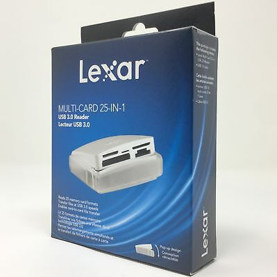 Lexar Multi Card 25 In 1 USB 3.0 Reader Lecteur USB 3.0 LRW025URBAP