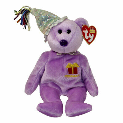 TY BEANIE BABY - AUGUST the Teddy Birthday Bear (w  hat) (9 inch ... 76a35a46f9c8
