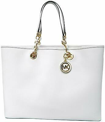 f327c9a431d7 NWT MICHAEL KORS Large North South Transparent Tote Clear/White ...
