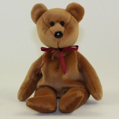 3501b313687 TY Beanie Baby - TEDDY BROWN - NEW FACE (No Hang Tag) 1st Gen
