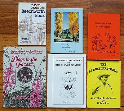 Australian paperback bulk lot poems, verses, stories