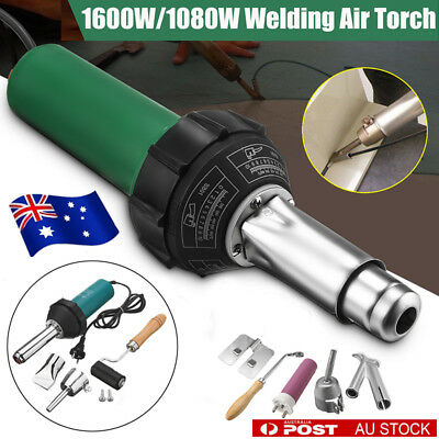1080W/1600W AC 220V Hot Air Torch Plastic Welder Welding Heat Gun Pistol Kit AU