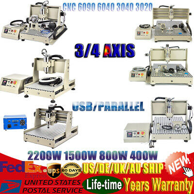 3/4 Axis CNC Router Engraver 3040/6040 Wood Metal PCB Engraving Milling Machine