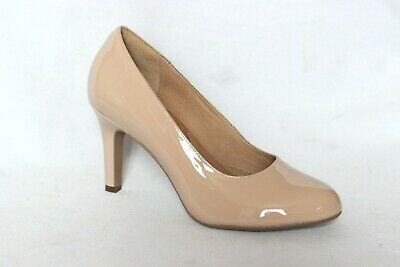 2d1adc324d5 NEW CLARKS HEAVENLY Star Nude Patent Leather Pumps Heels Women s 8.5 ...