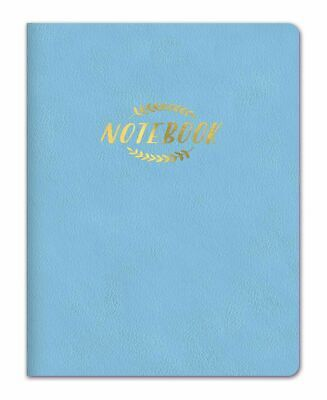 Studio Oh! Large Leatheresque Classic Journal Notebook, Sky Blue fast free ship