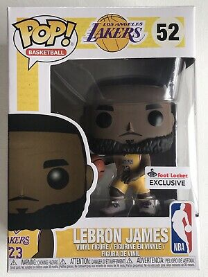 c11fe0409a92 Lebron James Pop Vinyl  52 Yellow Funko LA Lakers NBA Basketball Footlocker  US