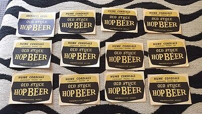 Vintage Old Style Hop Beer Labels 12 In Total Hume Cordials