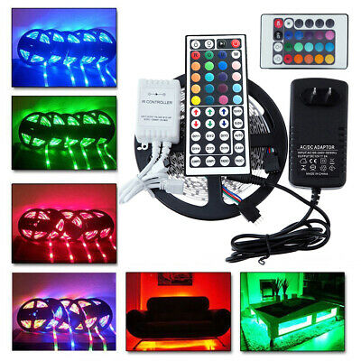20M 10M 5M 3528 SMD LED RGB Color Change Strip Light Full Kit Flexible Dimmable
