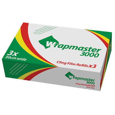 Wrapmaster 3000 Cling Film Refill 30cm x 300m (Pack of 3) 31C80