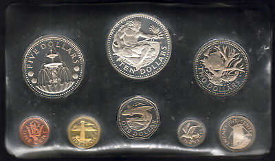 Barbados. 1974 8 Pce PROOF Set.. 1,5,10 & 25c, $1,$2,$5 & $10