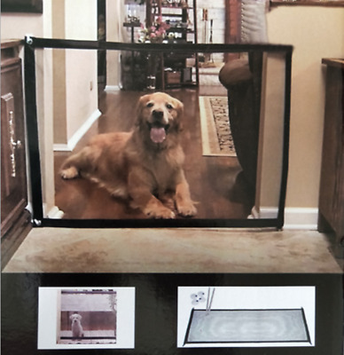 Mesh Magic Pet Dog Gate Safe Guard  Install Anywhere Safety Enclosure Modern