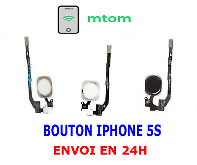 NAPPE FLEX + BOUTON HOME IPHONE 5S NOIR / BLANC / OR qualité original