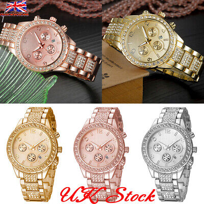 Fashion Crystal Diamante Women Girl Quartz Ladies Wrist Watches Rhinestone Watch