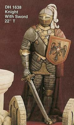 Ceramic Ready to paint Knight with Sword in Hand