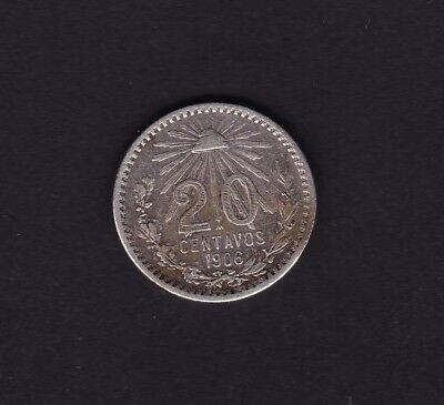 Mexico 20 cent Silver Coin 1906