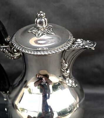 Nice French TEAPOT in STERLING SILVER 19th Century, SUPERB CONDITION 410 Grams
