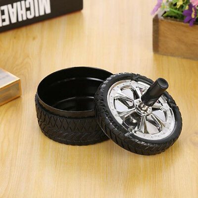 Cigarette Ashtray With Rotation Lid Tire Type Rotary Seal Ashtray 8C