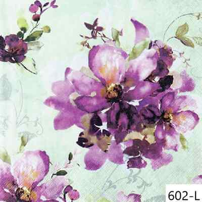 517 Two Individual Paper Luncheon Decoupage Napkins Magnolia Bloom Spring